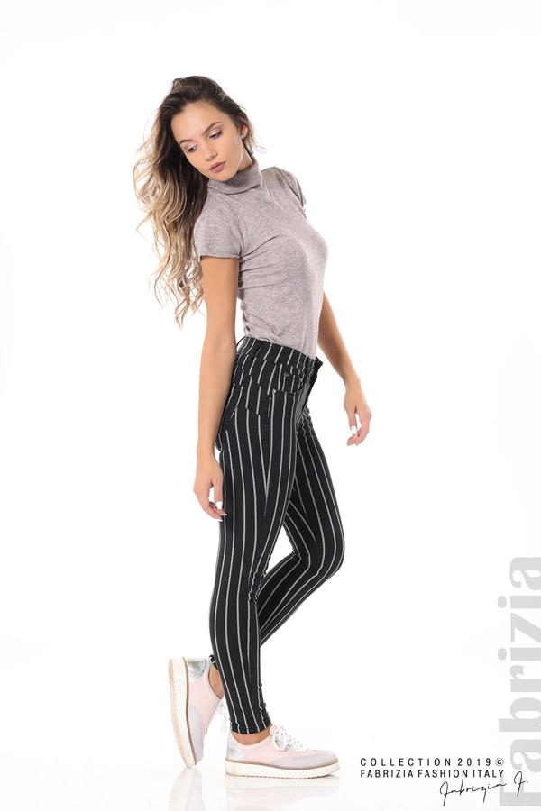 Панталон с десен райе черен 1 fabrizia