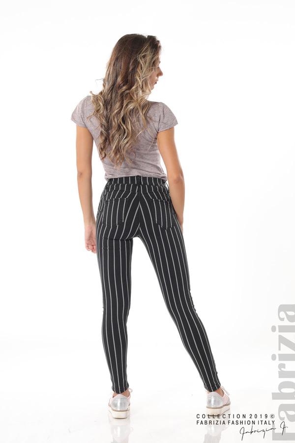 Панталон с десен райе черен 5 fabrizia