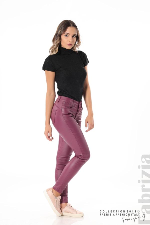 Дамски панталон от еко кожа бордо 1 fabrizia