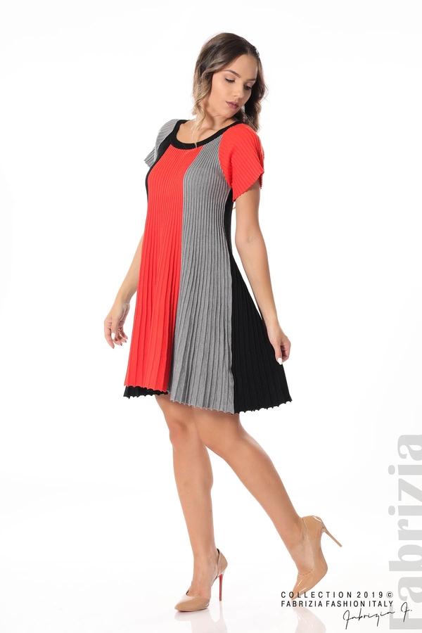 Къса плисирана рокля т.оранж 2 fabrizia