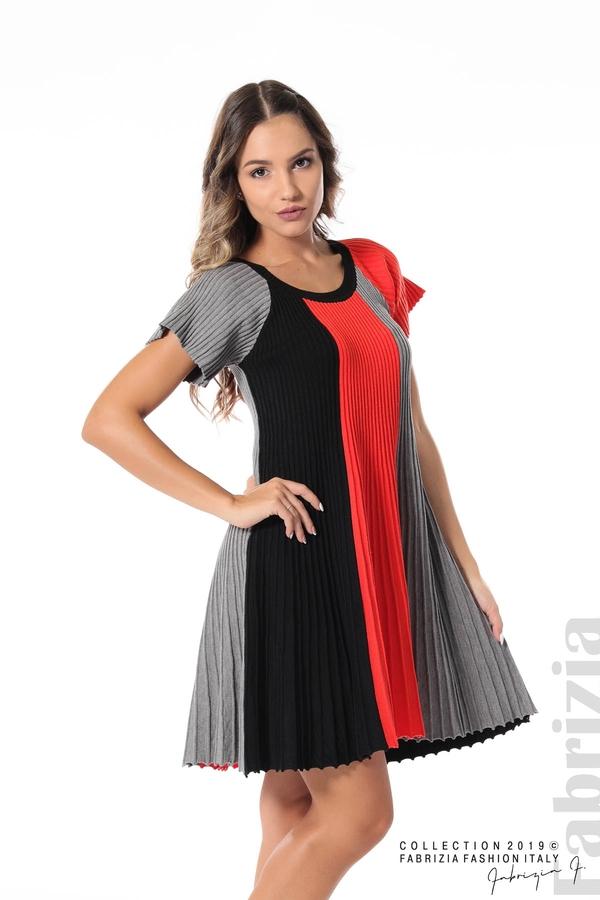 Къса плисирана рокля т.оранж 1 fabrizia