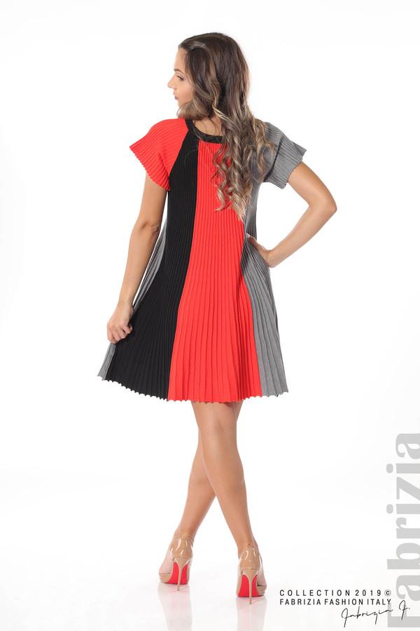 Къса плисирана рокля т.оранж 4 fabrizia