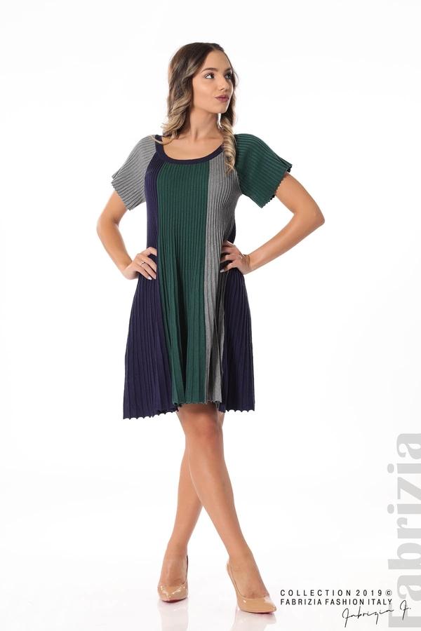 Къса плисирана рокля т.зелен 3 fabrizia