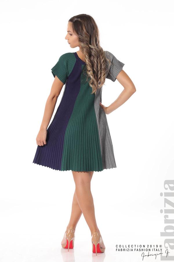 Къса плисирана рокля т.зелен 4 fabrizia