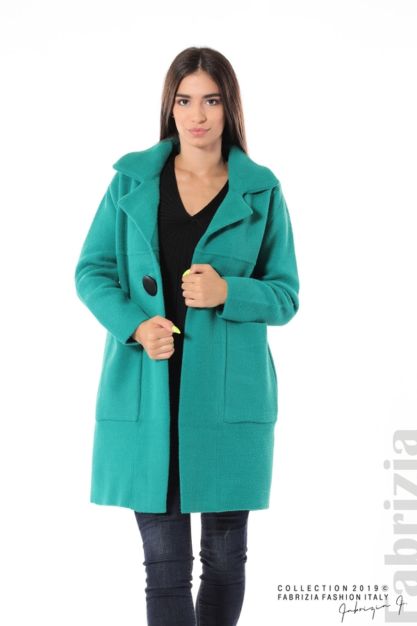 Дамско право палто зелен 1 fabrizia