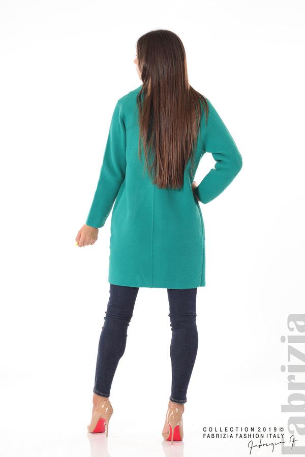 Дамско право палто зелен 4 fabrizia