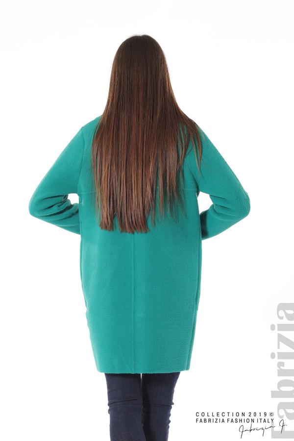 Дамско право палто зелен 5 fabrizia