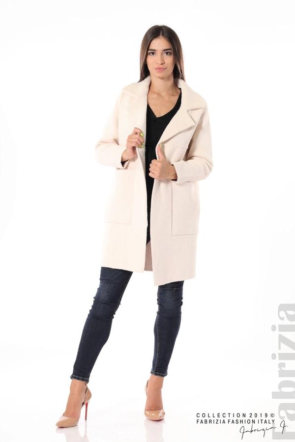 Дамско право палто св.бежов 3 fabrizia