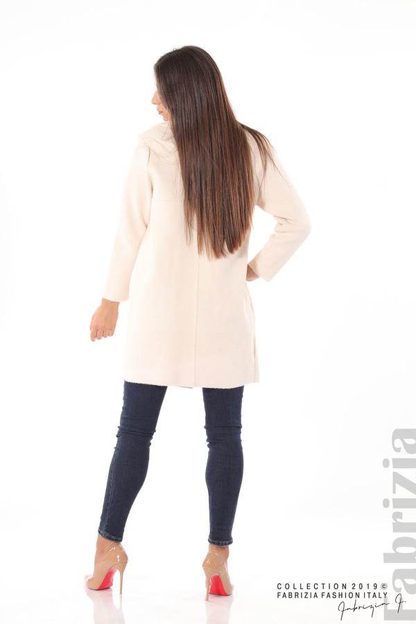 Дамско право палто св.бежов 4 fabrizia