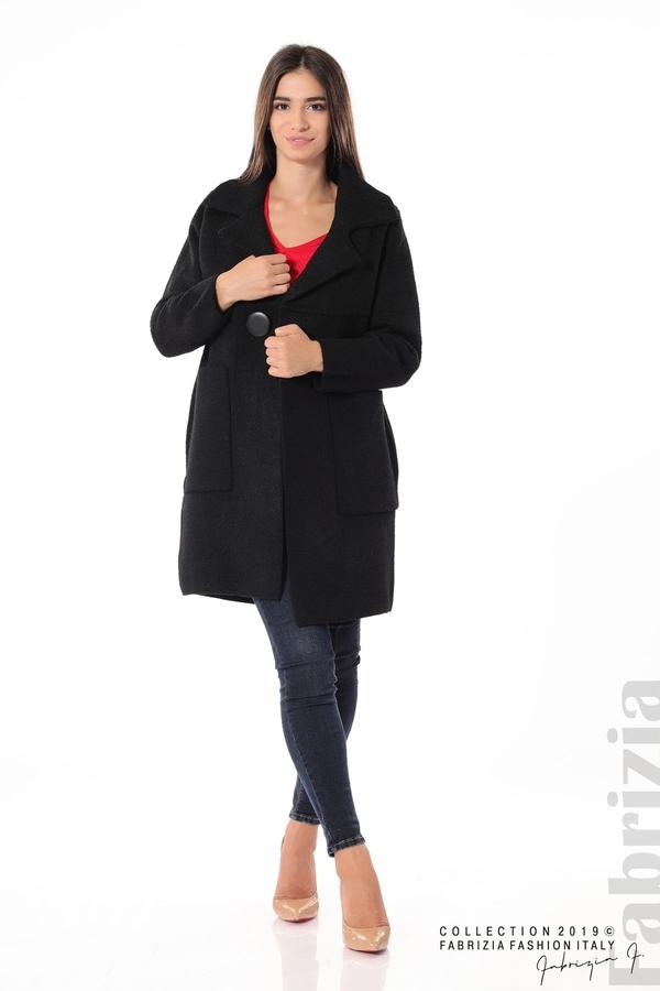 Дамско право палто черен 2 fabrizia