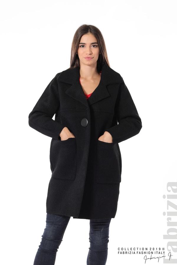Дамско право палто черен 1 fabrizia
