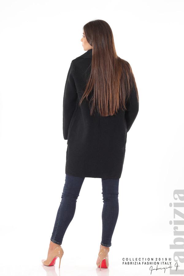 Дамско право палто черен 4 fabrizia