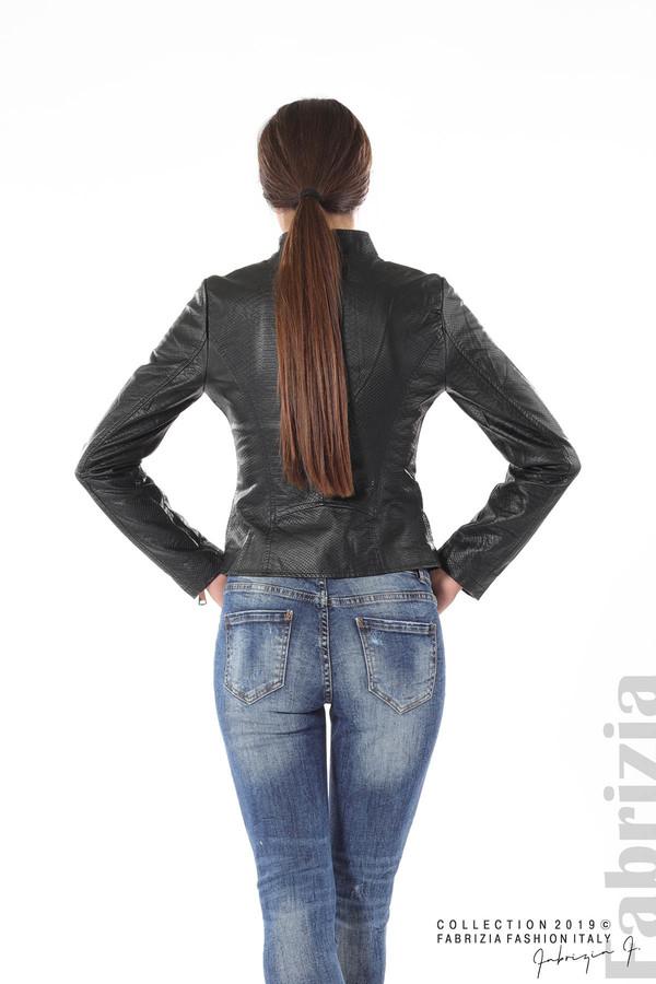 Късо кожено яке черен 8 fabrizia