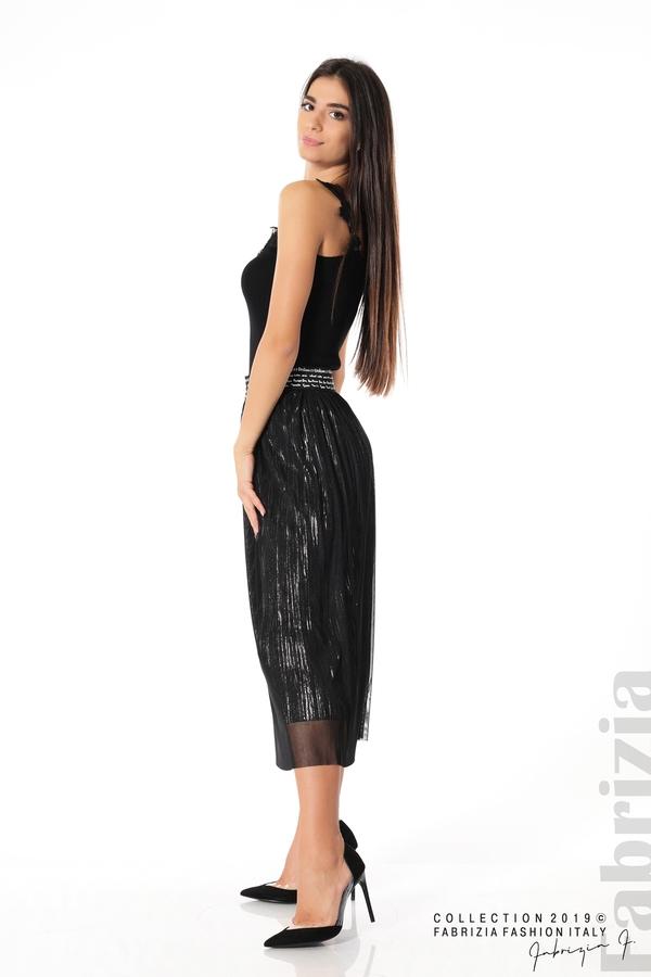 Дамска пола с тюл черен 2 fabrizia