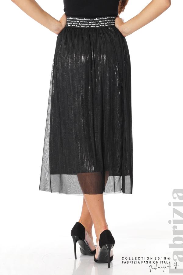 Дамска пола с тюл черен 6 fabrizia