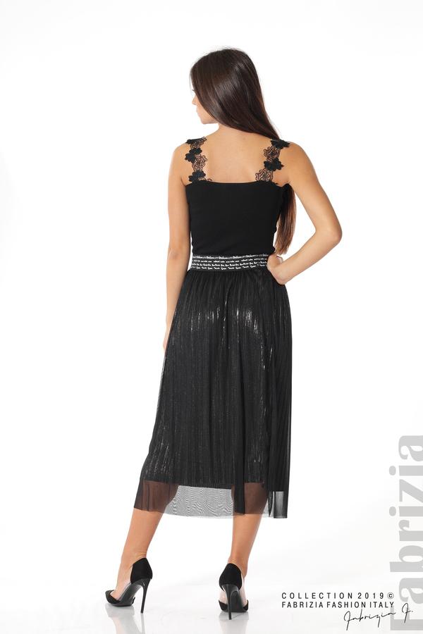 Дамска пола с тюл черен 5 fabrizia