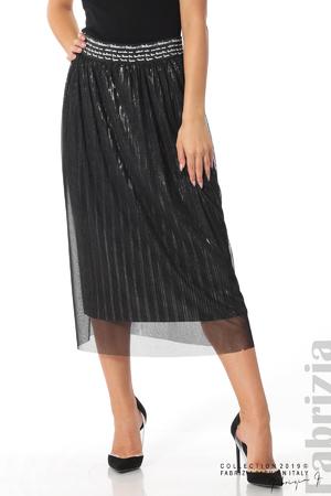 Дамска пола с тюл