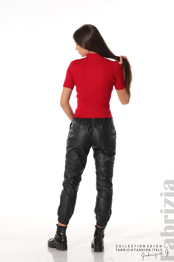 Рипсена блуза с къс ръкав червен 4 fabrizia