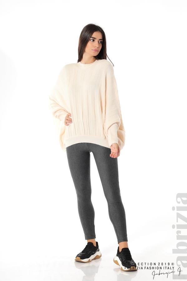 Широка блуза с  прилеп ръкав пудра 3 fabrizia