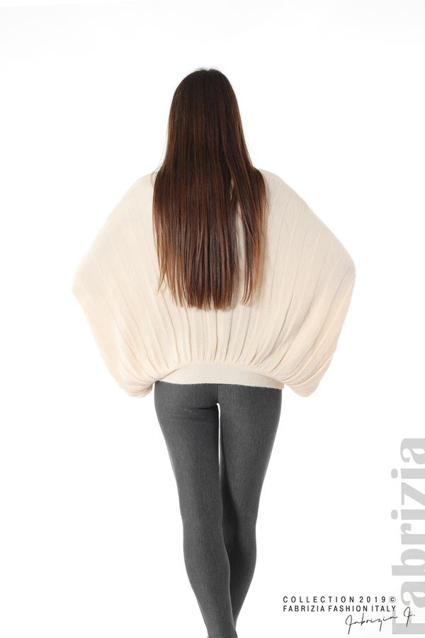 Широка блуза с  прилеп ръкав пудра 5 fabrizia