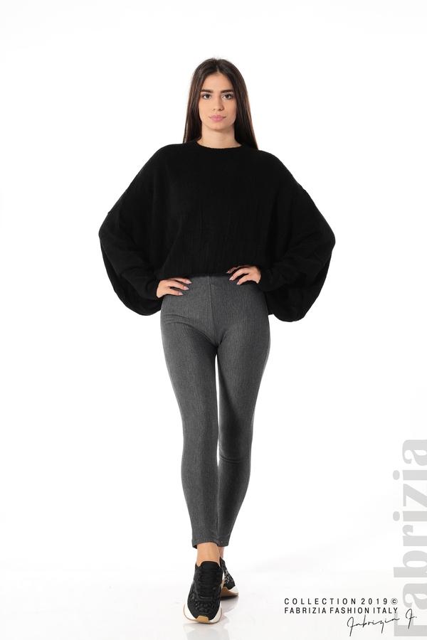 Дамски панталон висока талия сив 1 fabrizia