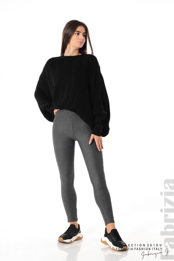 Дамски панталон висока талия сив 2 fabrizia