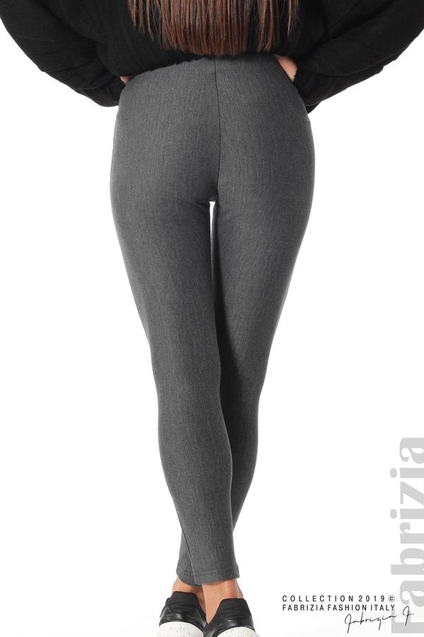 Дамски панталон висока талия сив 5 fabrizia