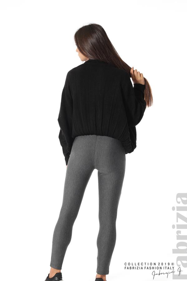 Дамски панталон висока талия сив 4 fabrizia