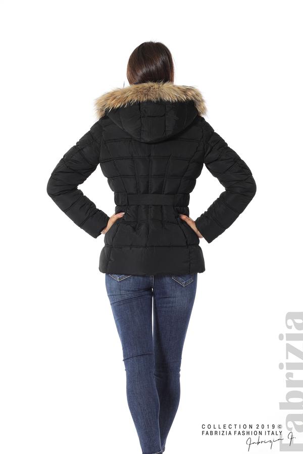 Дамско яке с естествен косъм-черен-6-Fabrizia