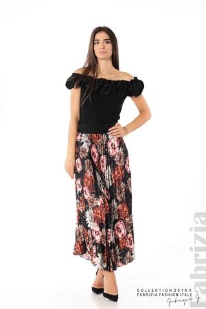 Дамска пола с десен на цветя