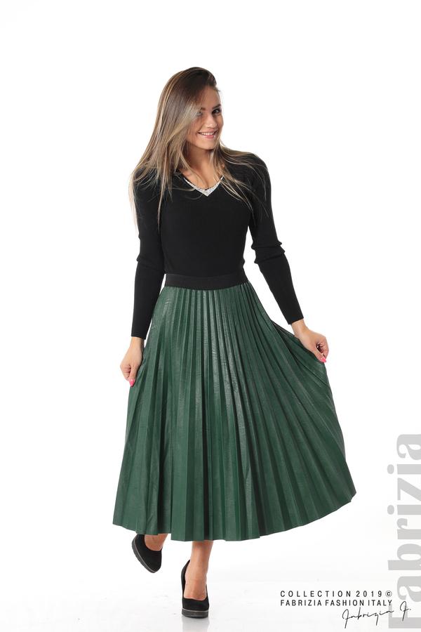 Плисирана дамска пола  т.зелен 1 fabrizia