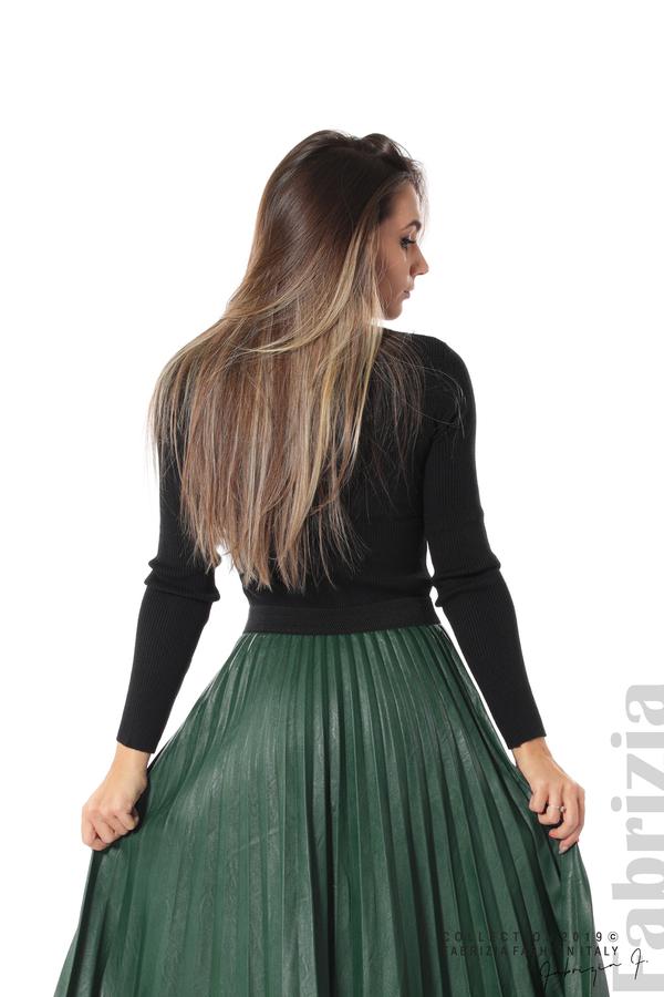 Плисирана дамска пола  т.зелен 3 fabrizia