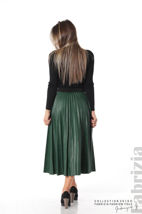 Плисирана дамска пола  т.зелен 4 fabrizia
