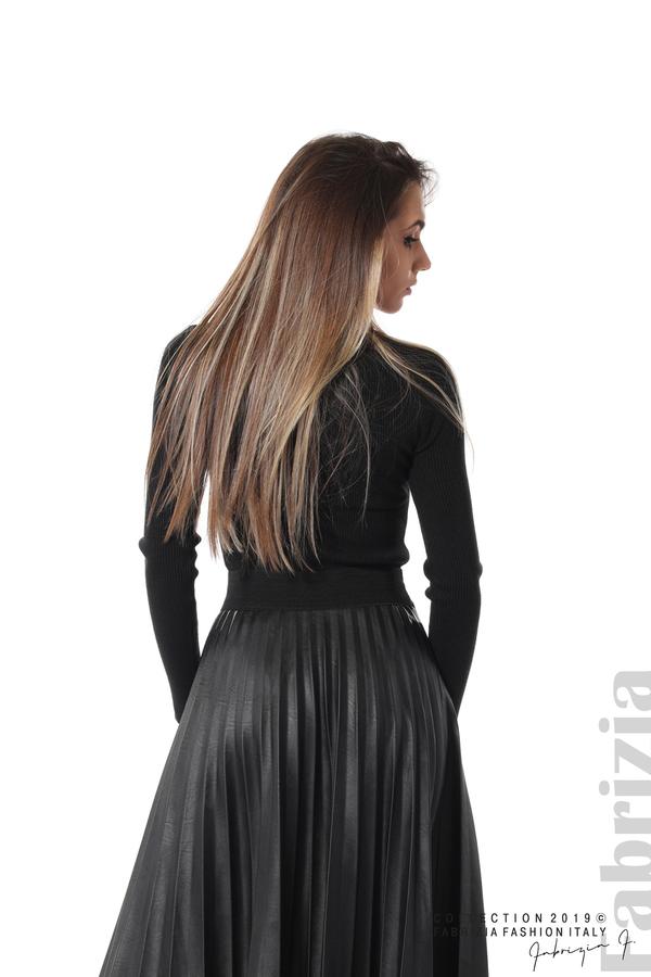 Плисирана дамска пола черен 5 fabrizia
