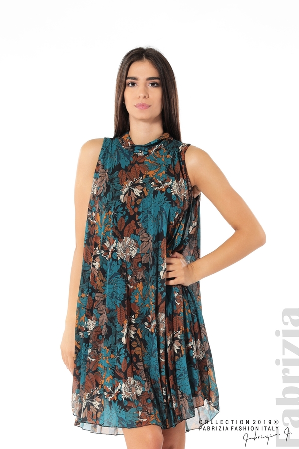 Дамска плисирана рокля на цветя отанио 1 fabrizia