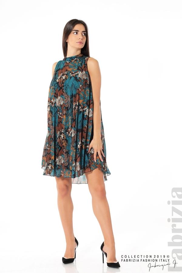 Дамска плисирана рокля на цветя отанио 3 fabrizia