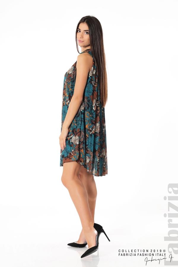 Дамска плисирана рокля на цветя отанио 4 fabrizia