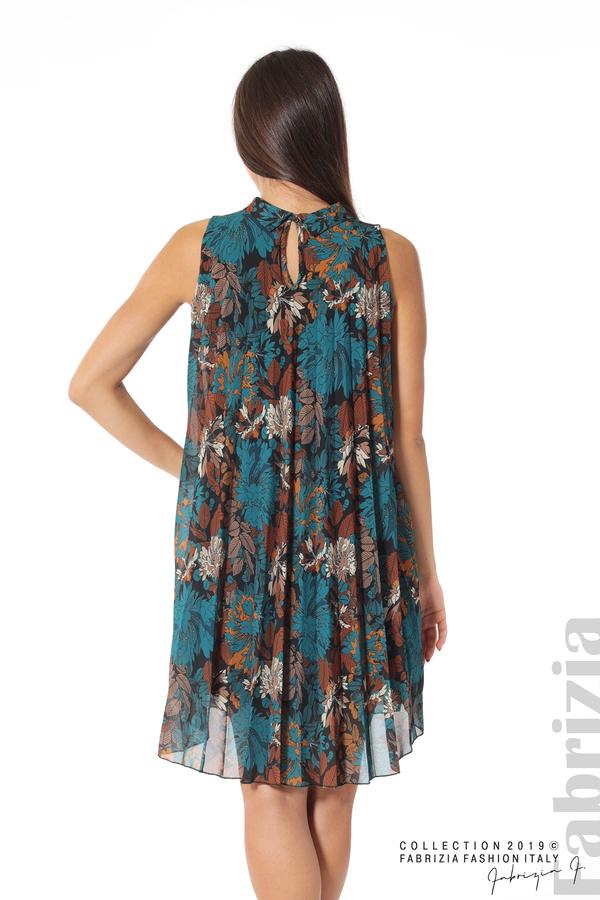 Дамска тюлена рокля на цветя отанио 6 fabrizia