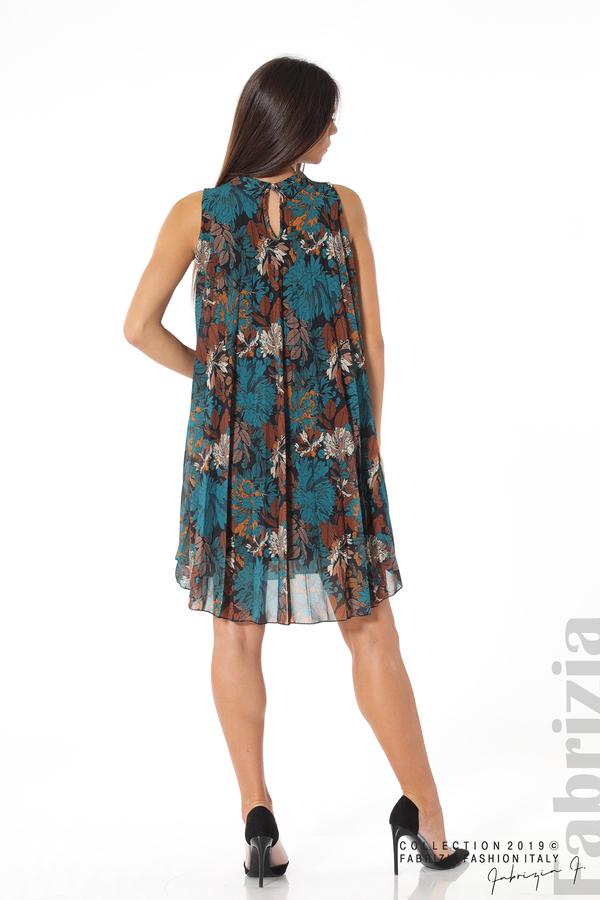 Дамска плисирана рокля на цветя отанио 5 fabrizia