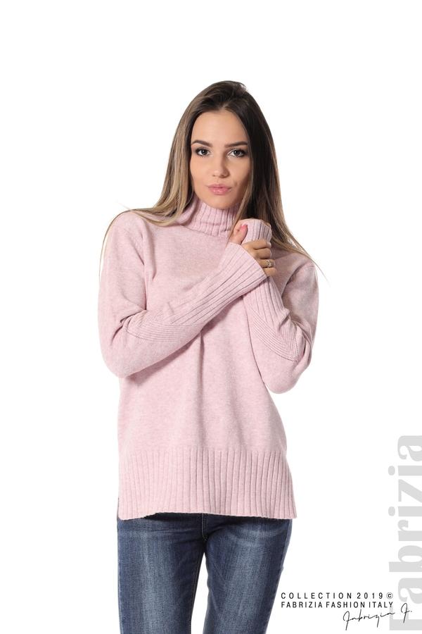 Блуза със свободен силует розов 1 fabrizia