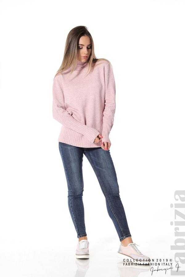 Блуза със свободен силует розов 2 fabrizia