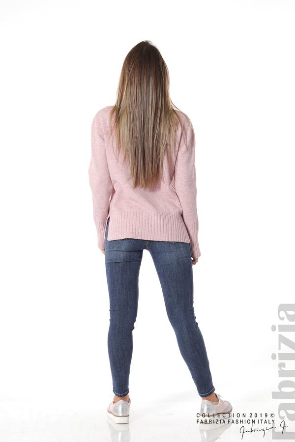 Блуза със свободен силует розов 4 fabrizia