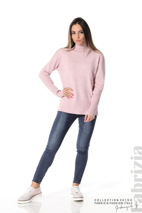 Блуза със свободен силует розов 3 fabrizia