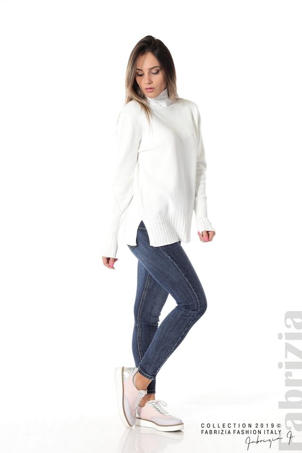 Блуза със свободен силует бял 2 fabrizia