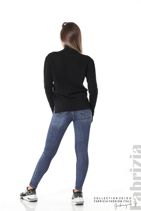 Блуза със свободен силует черен 5 fabrizia