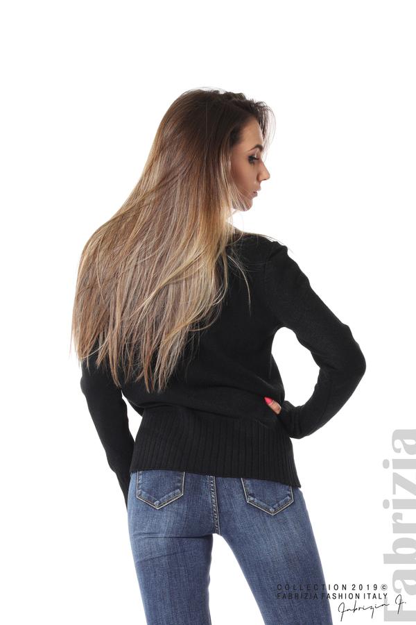 Блуза със свободен силует черен 4 fabrizia