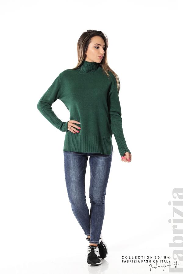 Блуза със свободен силует т.зелен 3 fabrizia