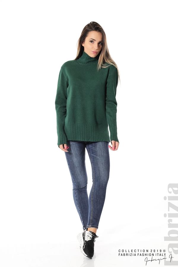Блуза със свободен силует т.зелен 2 fabrizia