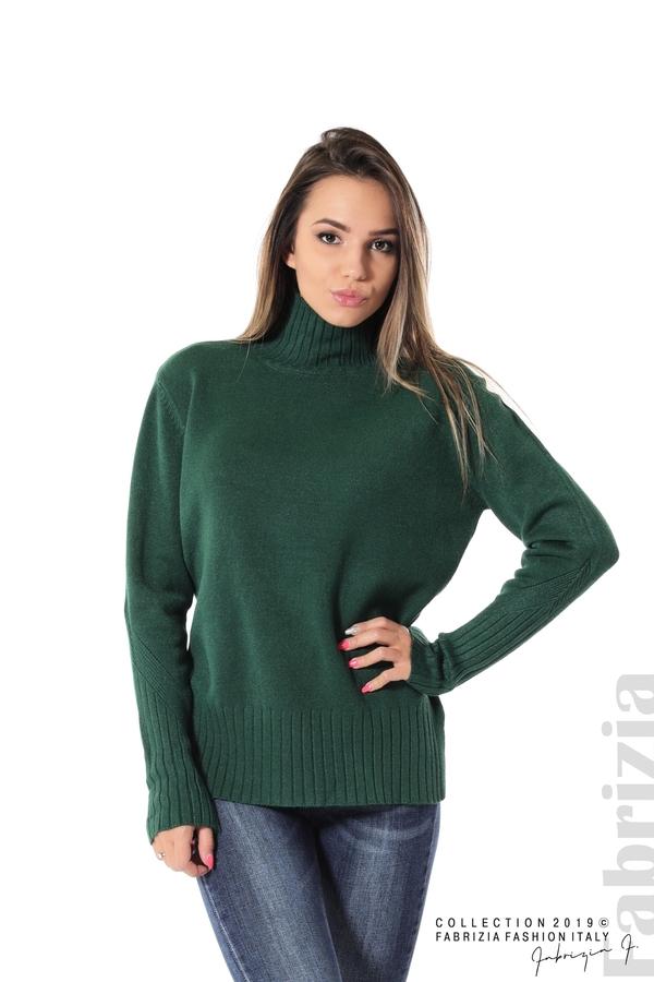 Блуза със свободен силует т.зелен 1 fabrizia