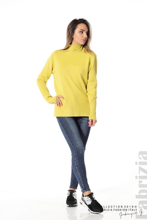 Блуза със свободен силует жълт 2 fabrizia